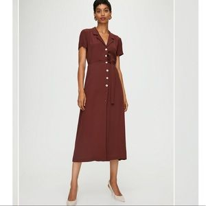 Wilfred Shirt Dress in terracotta/brown color